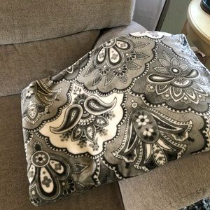 """Grey Patterned Throw Blanket 50x70"""""""